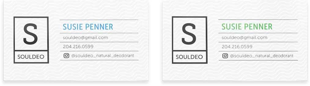 Soul Deo business cards