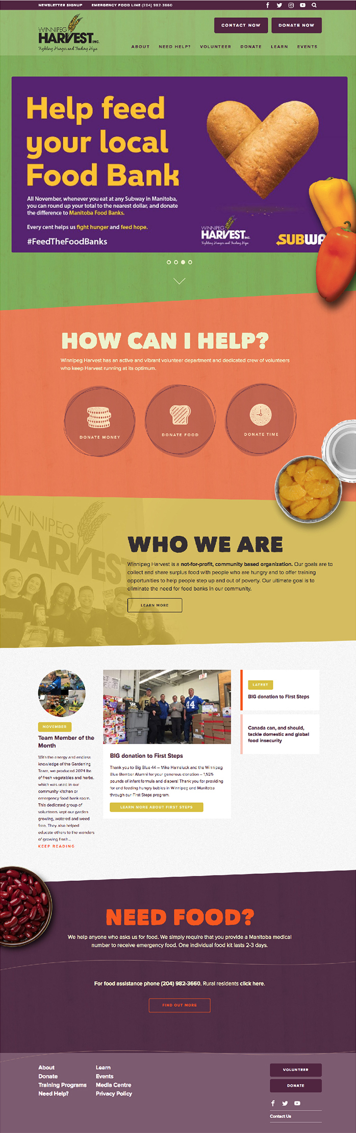 winnipeg harvest home page